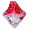 Glass Lamp Bead 31x24mm Amethyst/Pink Twister